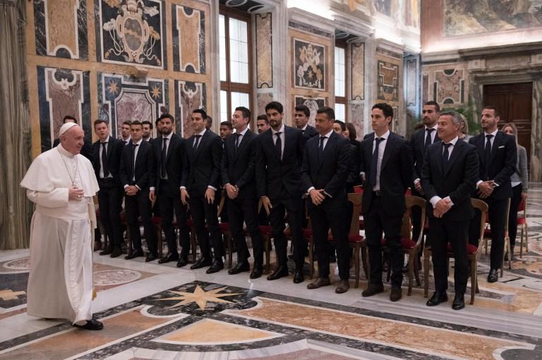 Il Villarreal va dal Papa
