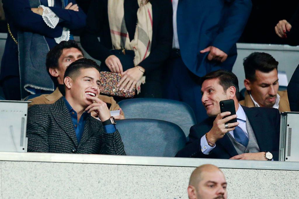 James Rodriguez (Bayern Monaco) e Zanetti (Inter)