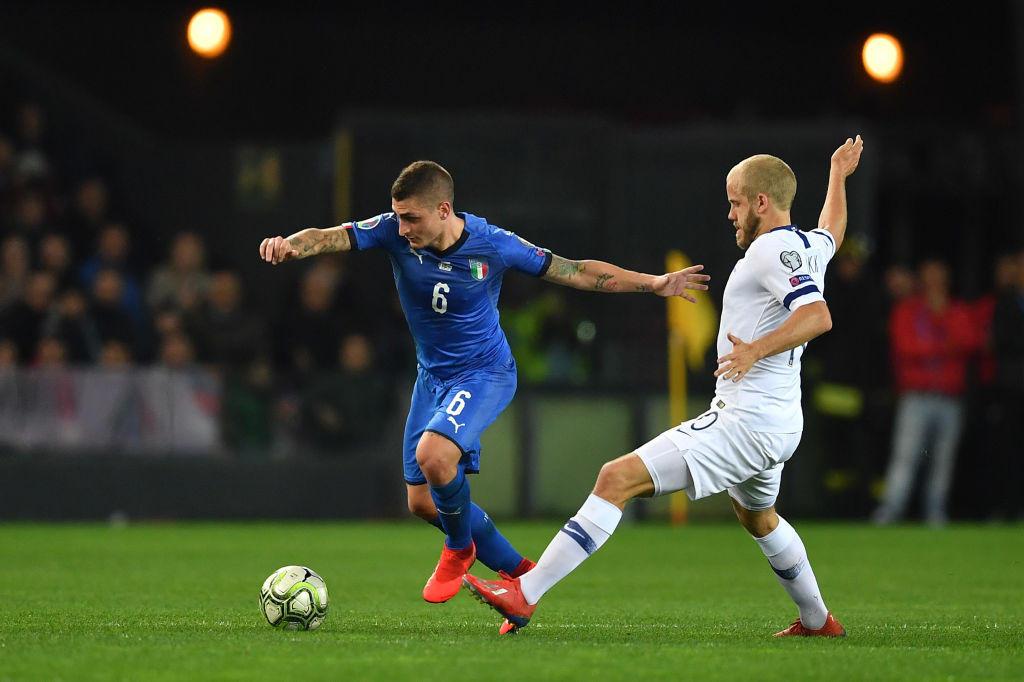 Verratti 6,5 - Con la maglia dell'Italia riesce sempre a dare qualcosa in più. Ci prova fino alla fine a incidere e all'85' lascia il posto all'esordiente Zaniolo (SV)