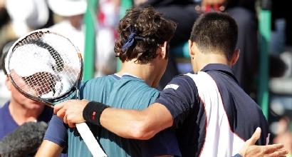 Federer e Djokovic (Afp)