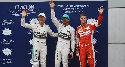 F1, Malesia: Lewis Hamilton in pole, capolavoro di Vettel a Sepang