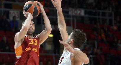 Eurolega: Milano cade ancora, ride il Galatasaray