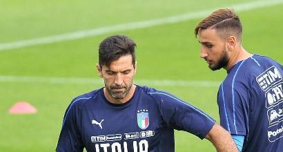 """Buffon consiglia Donnarumma: """"Se viene alla Juve non sbaglia mai, questo è certo"""""""