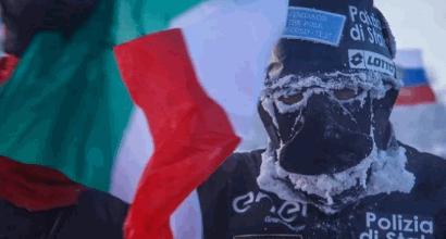 Impresa di Paolo Venturini: corre 39 km a -52 gradi
