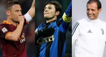 Hall of Fame 2018: entrano Totti, Zanetti e Allegri