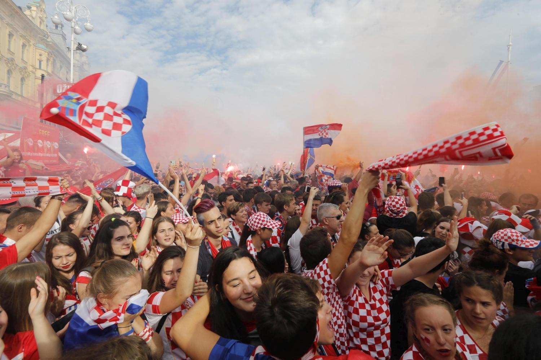 Mondiali 2018: anche Zagabria in festa