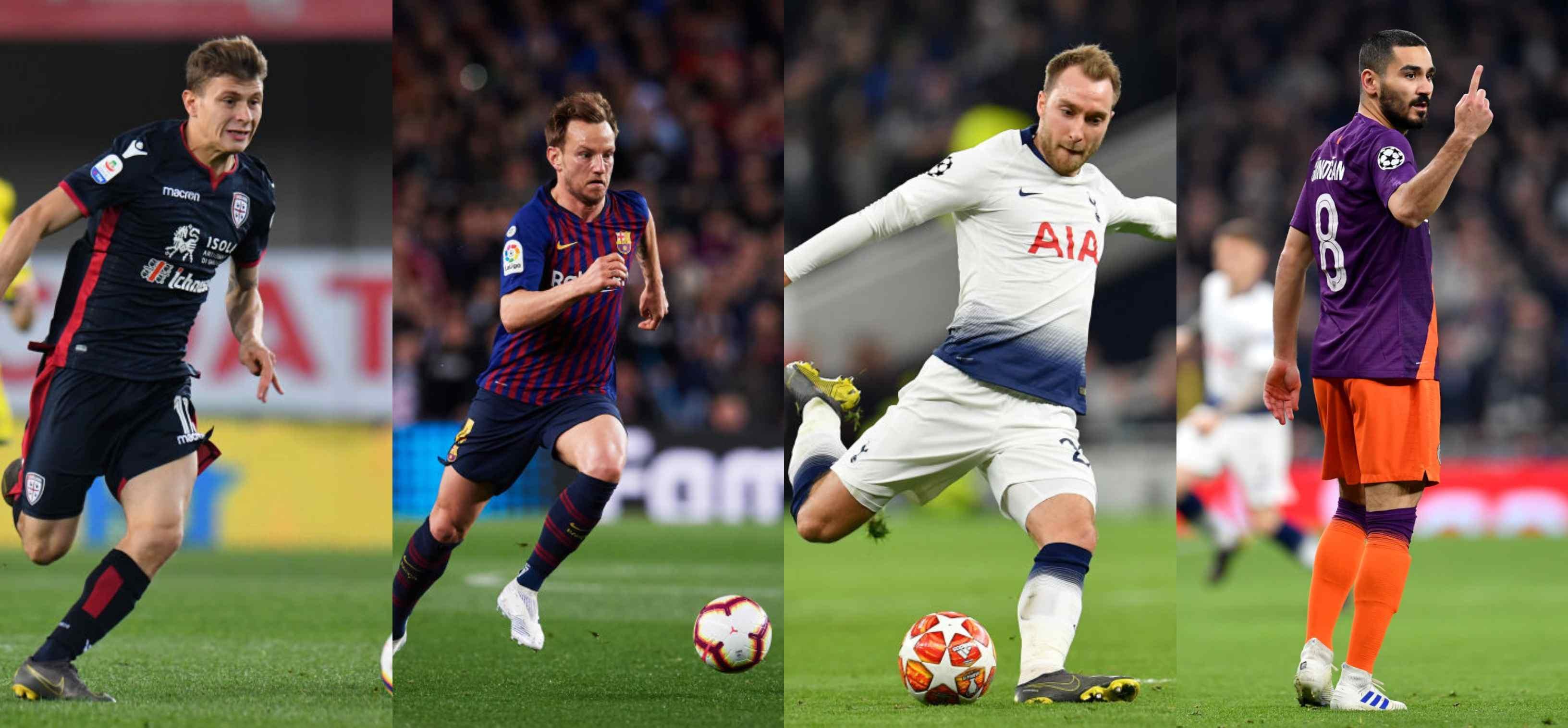 Barella (Cagliari), Rakitic (Barcellona), Eriksen (Tottenham) o Gundogan (Manchester City)