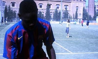 Balotelli con la maglia del Barça, foto da mariobalotelli.it