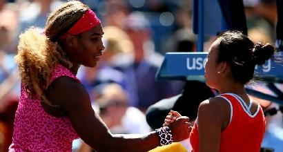 Serena Williams e Vania King, foto Afp