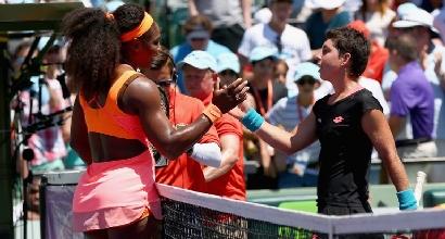Serena Williams e Carla Suarez Navarro (Afp)