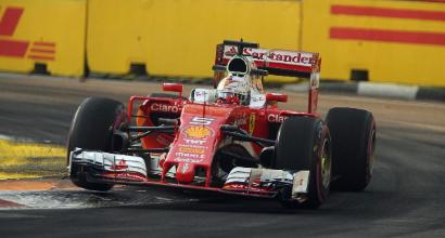 """F1 a Singapore, Vettel: """"Vogliamo la prima fila"""""""