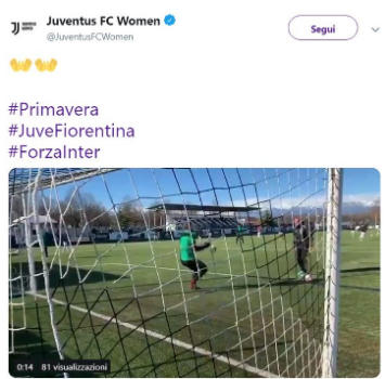Juve, la gaffe è social: #ForzaInter nell'account della squadra femminile