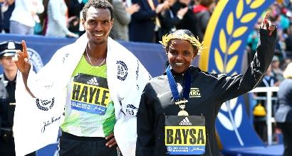 Maratona di Boston, foto AFP