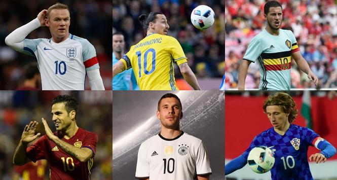 I numeri 10 di Euro 2016: da Rooney a... Podolski