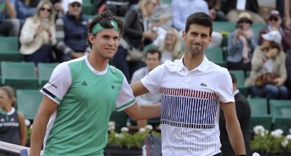 Thiem e Djokovic (Afp)