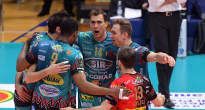 Volley, playoff: Trento piega Civitanova al tie break, Perugia sconfigge Modena 3-1