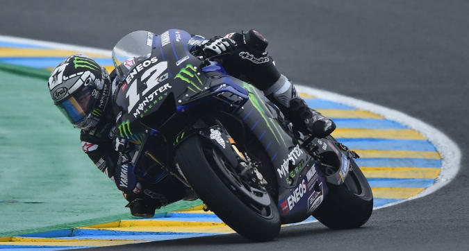 MotoGP, Vinales vola sul bagnato