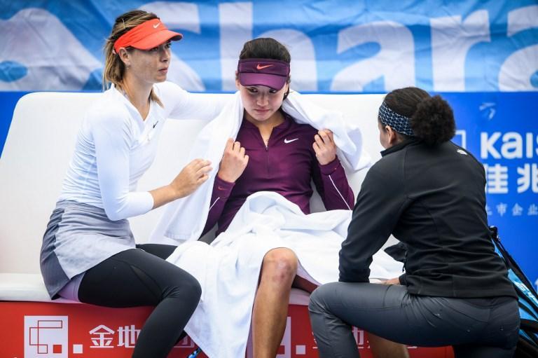 """Sharapova consola la Wang: """"Diventerai grande"""""""