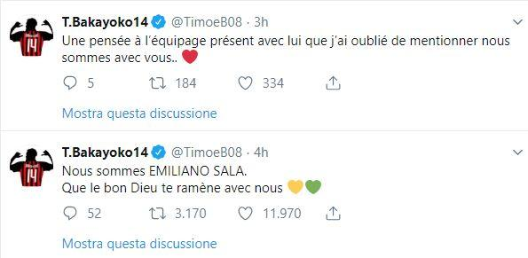 Il mondo del calcio prega per Emiliano Sala