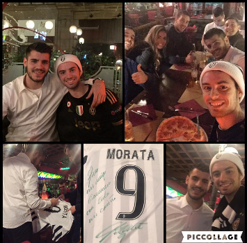 Morata e il fan, foto Facebook