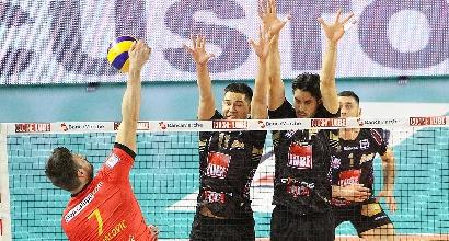 Volley, SuperLega: Civitanova implacabile, Perugia stende Trento