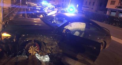 Sampdoria: attaccante scappa dalla polizia e si schianta con la macchina