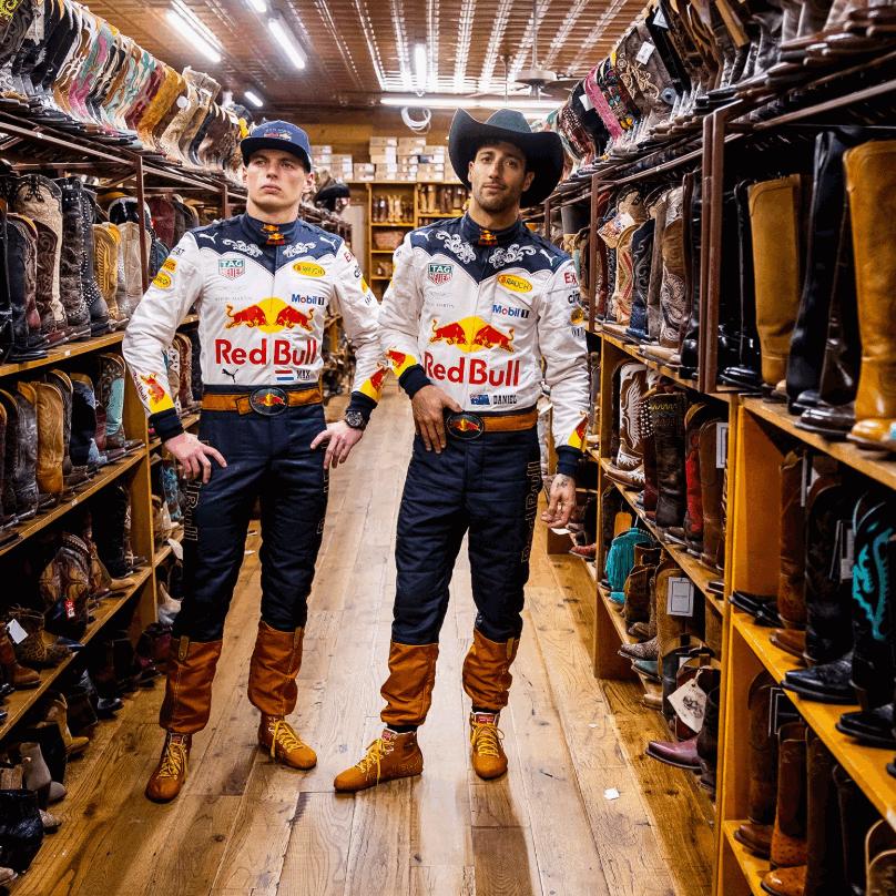 Tuta in tema per Ricciardo e Verstappen ad Austin