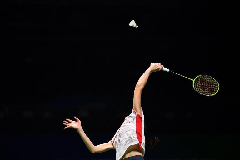 Aya Ohori in azione durante il Mondiale di badminton a Nanchino (1 agosto)