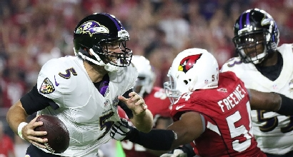 Nfl: Arizona in volata, Baltimore ko