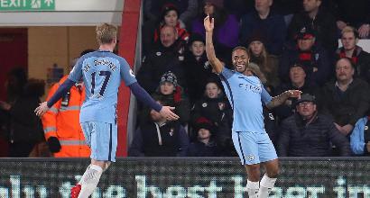 Premier: Manchester City corsaro a Bournemouth, è secondo