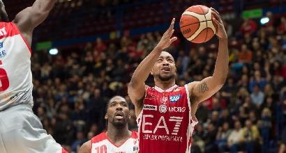 Basket Serie A, Milano sorride ancora: stesa Reggio Emilia