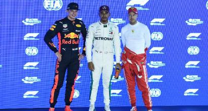 Hamilton-Verstappen-Vettel, AFP