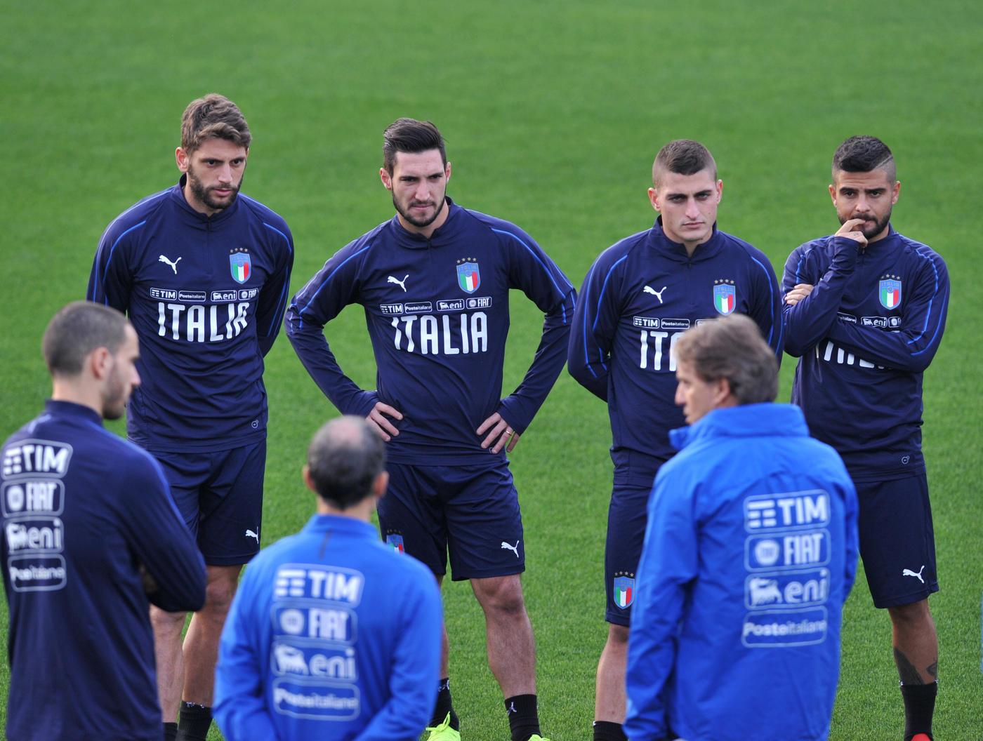 A Coverciano seconda giornata di allenamenti per l'Italia di Manxini in vista degli impegni contro Portogallo e Usa.