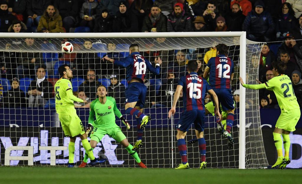 Coppa del Re, Levante-Barcellona 2-1: le foto del match