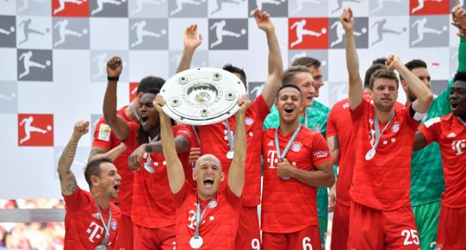 Bayern campione di Germania: festa in campo