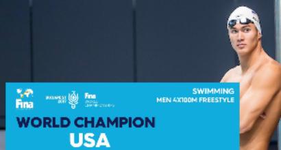 Nuoto, Mondiali: agli Stati Uniti la staffetta 4x100 sl. Squalificata l'Italia