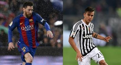 Champions: Messi vs Dybala, notte di stelle a Barcellona. La Roma sfida Simeone
