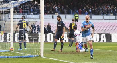 Napoli-Sampdoria 3-2, azzurri in fuga…e intanto Hamsik supera Maradona