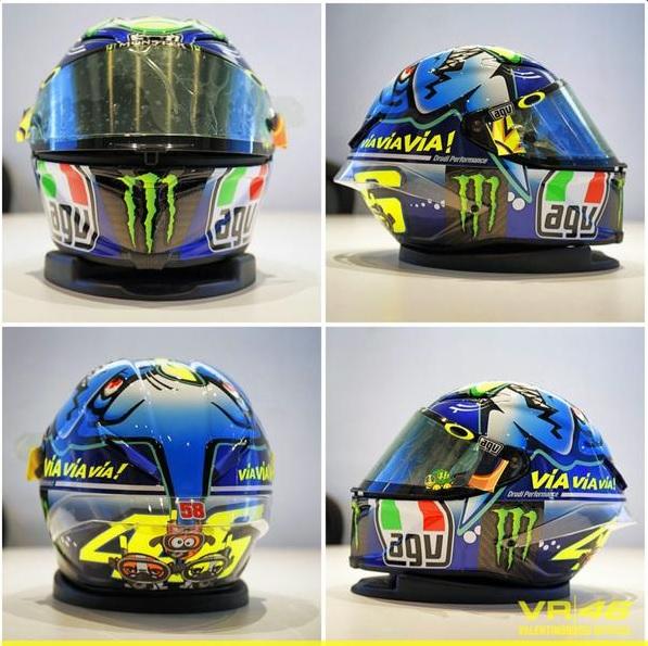 MotoGP, casco con pesce per Valentino Rossi