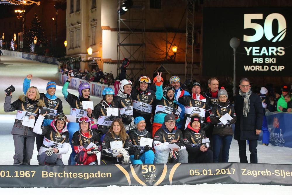 50 anni della Coppa del Mondo di sci, la festa a Zagabria