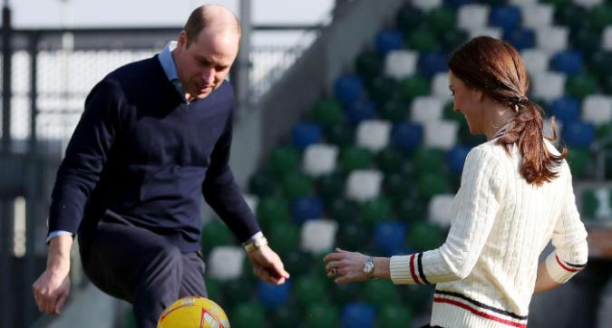 William e Kate, quando il calcio diventa una nobile arte
