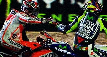 Marquez e Rossi (Twitter)