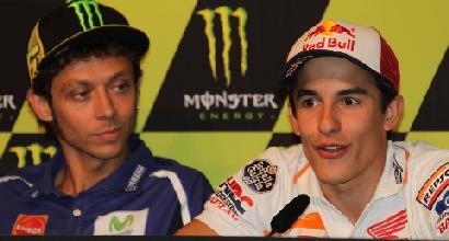 Rossi e Marquez, foto IPP