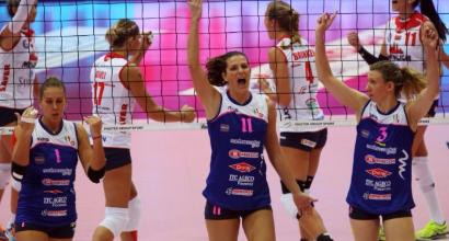 Volley, A1 femminile: valanga Piacenza, Bergamo ko