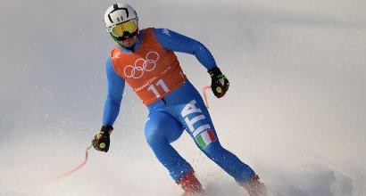 Olimpiadi, Fill solo 11° nella prima prova di discesa