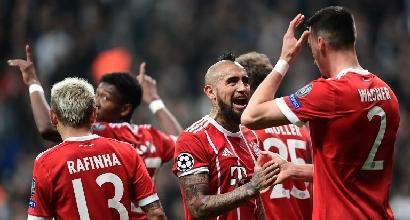 Champions: nessuna sorpresa, il Bayern batte il Besiktas anche in Turchia e vola ai quarti