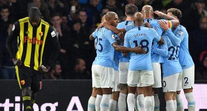 Premier League: il City non sbaglia, battuto 2-1 il Watford
