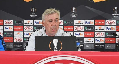 """E. League, Ancelotti: """"Niente calcoli, a Salisburgo per vincere. Insigne? Sente tanta pressione"""""""