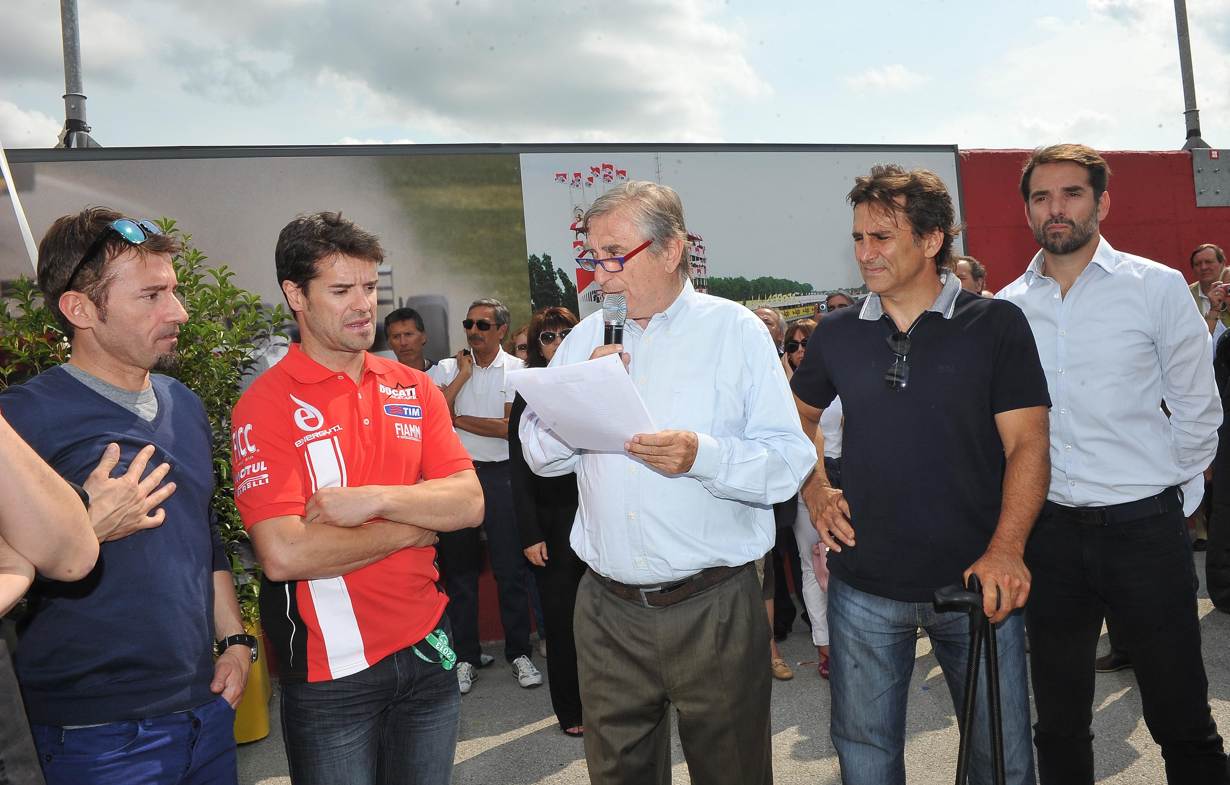 I piloti della Superbike in visita al museo di Imola