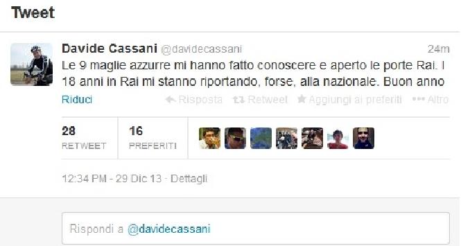 """Ciclismo, Davide Cassani: """"Forse sarò ct della Nazionale"""""""